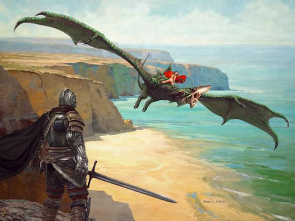 Cliff Dragon fantasy art print