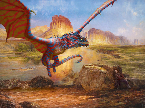 Desert Dragon fantasy art print