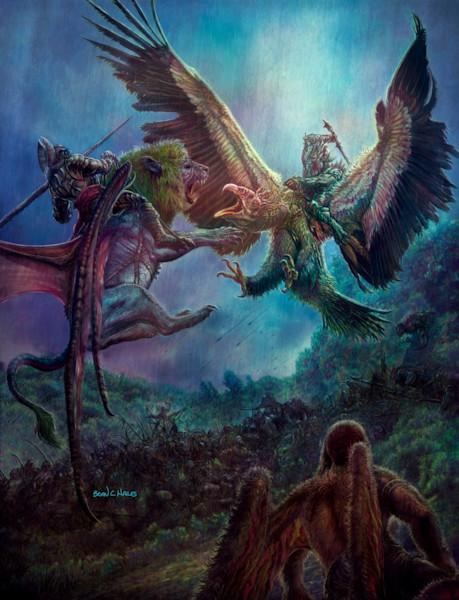 Gorbane Skirmish fantasy art print