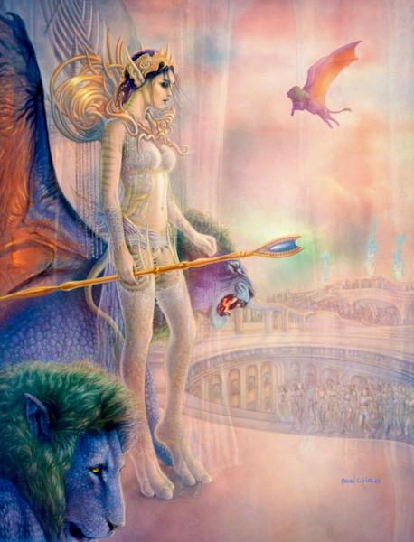 Karaya's Coronation fantasy art print