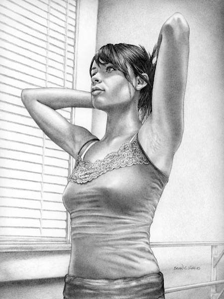 Preparation ballet dance art print