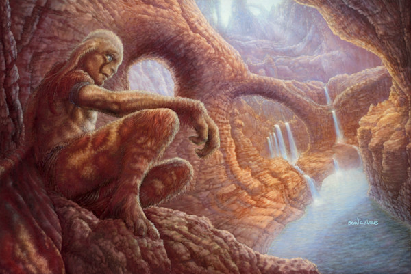 Roan's Canyon fantasy art print