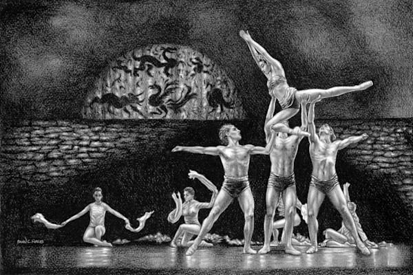 Support ballet art print