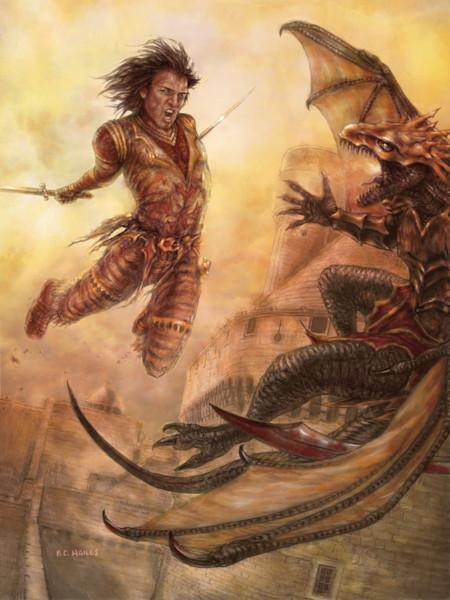 Tyris Leap fantasy art print