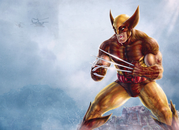 The Wolverine superhero comic art print