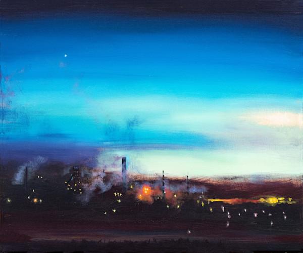 Art print industrial Port Talbot Steelworks