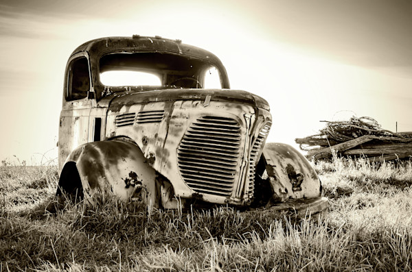 Abandoned REO Speedwagon Farm Truck.