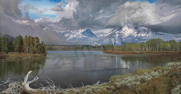 Driftwood-The Oxbow Bend on Fine Art Paper and Canvas for Sale