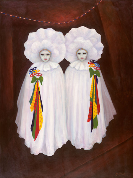Twins with Masks