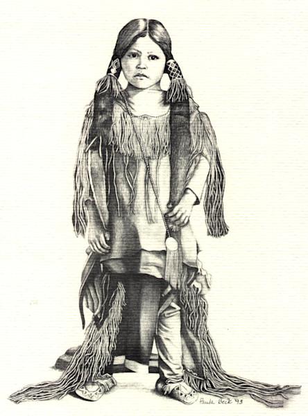 Kiowa Boy Lithograph print by Paula Beck