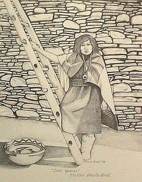 Zuni Man and Woman