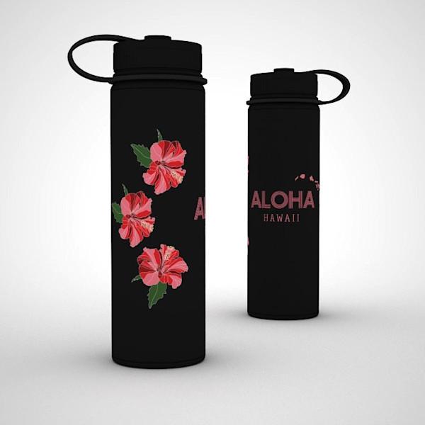 Printed Lifestyle Flasks | Aloha Hibiscus