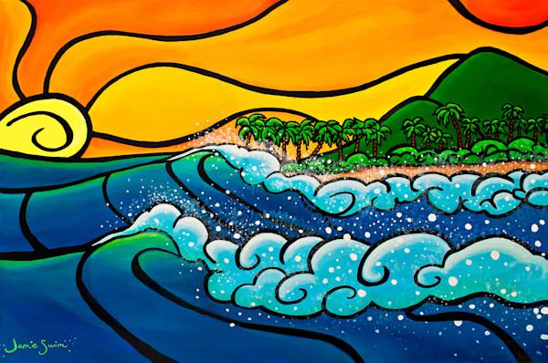 Sunset Surf Spray