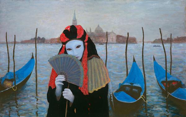 Mask and Fan - Original