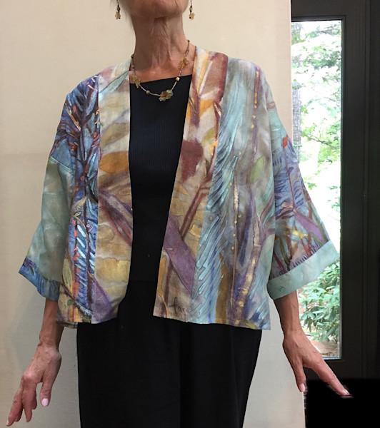 Winter Solstice Short Kimono Jacket Dorothy Fagan Collection