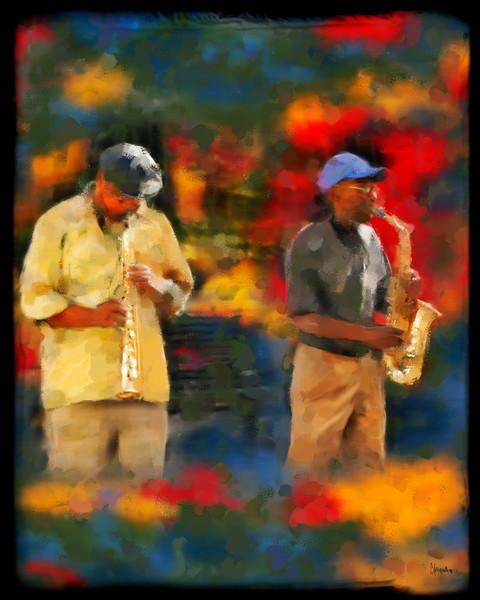 NOLA Jazz painting by Christina Stefani - print options
