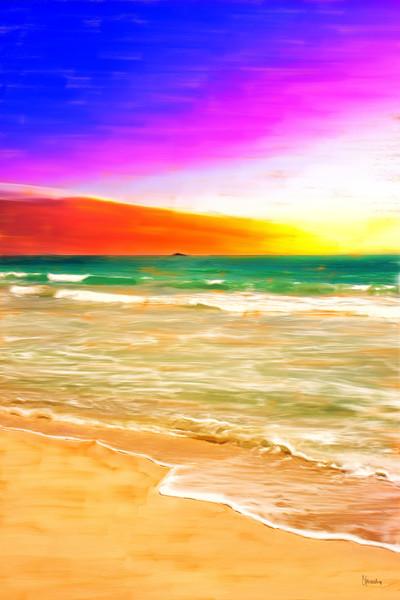 Kailua Beach Sunrise painting by Christina Stefani