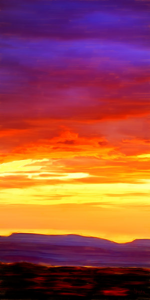 Sunset in Yellow painting by Christina Stefani