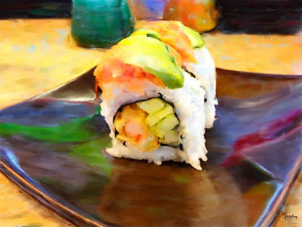Sushi II painting by Christina Stefani