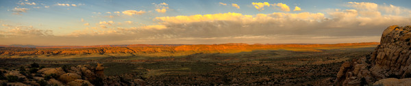 Arches Sunrise Panorama II photograph by Richard Stefani for sale