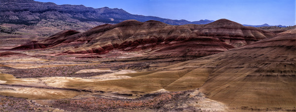 Painted Hills Oregon Panorama photograph by Richard Stefani for sale