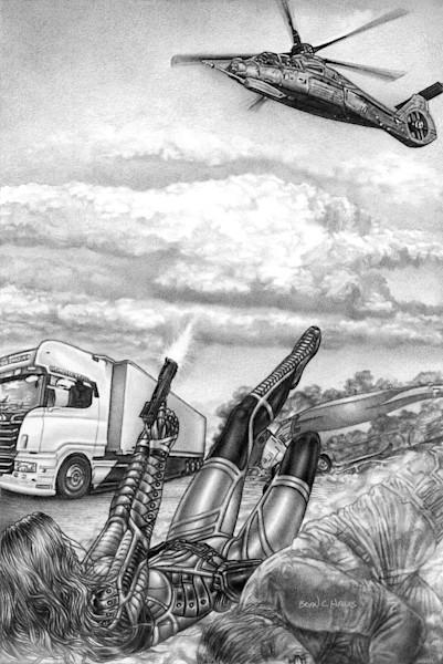 Chopper Down thriller comic art print