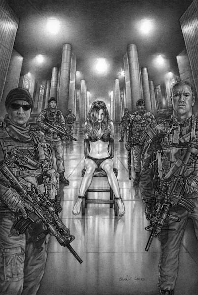Prisoner thriller comic art print