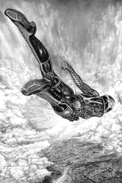 Sky Drop thriller comic art print