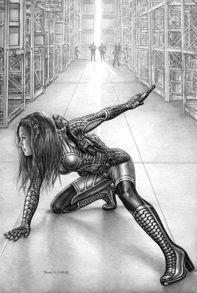 The Warehouse thriller comic art
