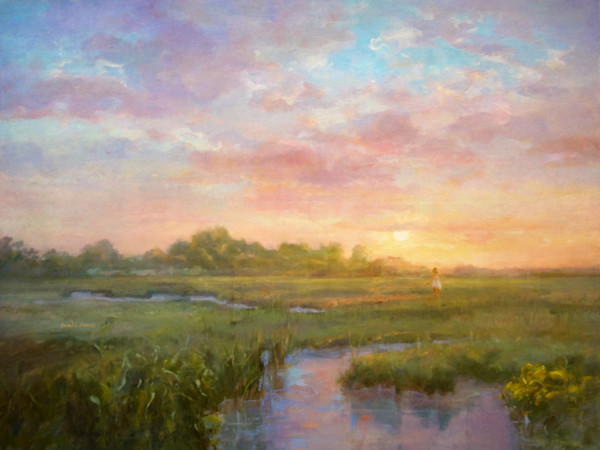 Sunset Meadow landscape art print
