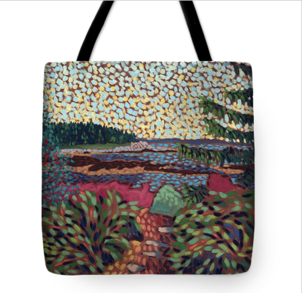 Tote Bag, Reid State Park, Cape Elizabeth, Maine, Art, Tote