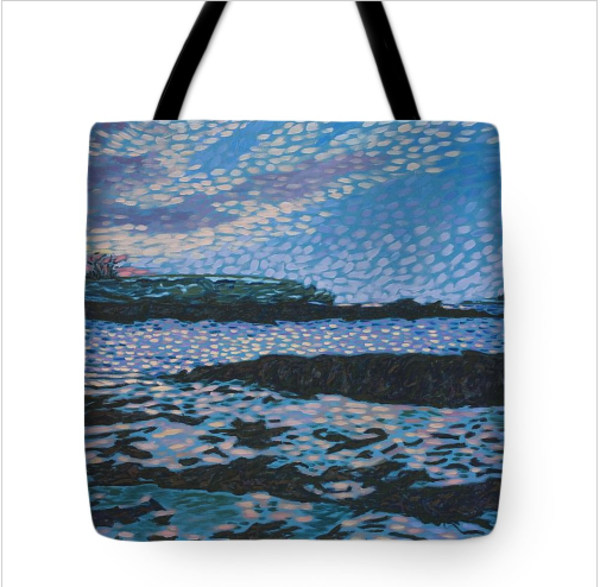tote, tote bag, maine, fine art