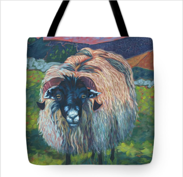 Yorkshire Sheep Tote Art | Diane Beem