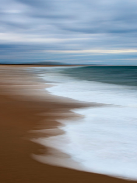 """Incoming Tide"" Westerly, Rhode Island Fine Art Vertical Abstract Beach Photograph"