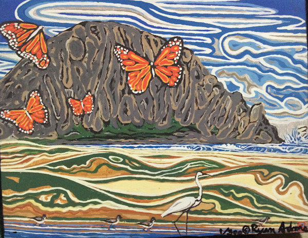 Monarchs  at the pit.......central coast california