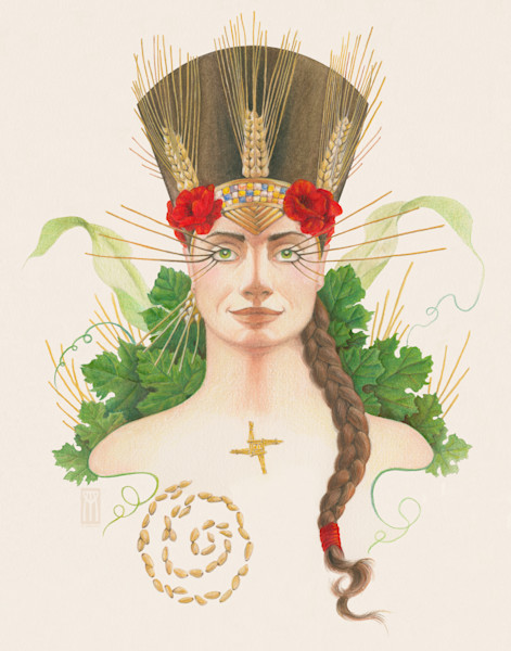 Beautiful painting of the Goddess to decorate your Pagan altar! | Melissa Benson Illustration
