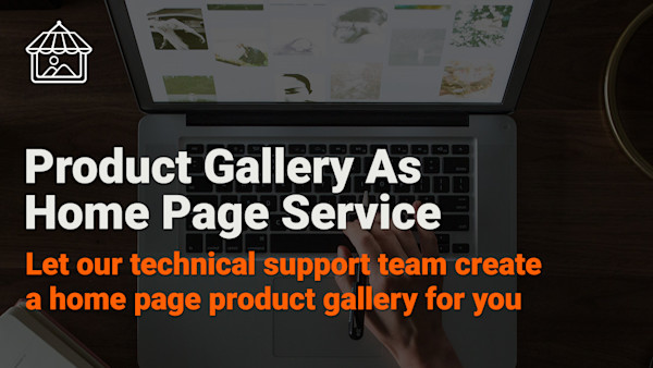 Product Gallery as Home Page Service
