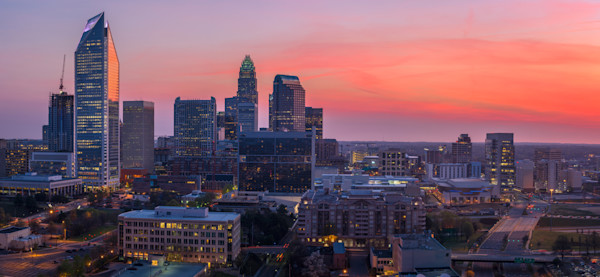 Charlotte Skyline in the Spring Photograph for Sale as Fine Art