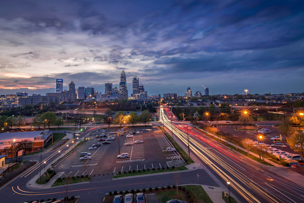 Charlotte During Rush Hour Photograph for Sale as Fine Art