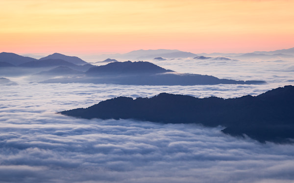Mountain Valley of Clouds Photograph for Sale as Fine Art