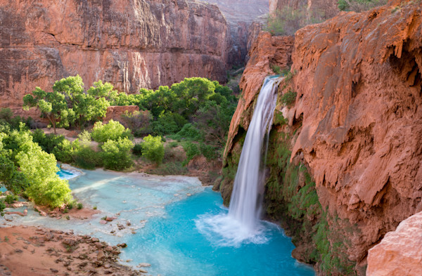 Waterfall at Havasupai Photograph for Sale as Fine Art