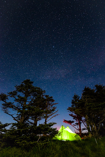 Backpacking Camp Site Under The Stars Photograph for Sale as Fine Art