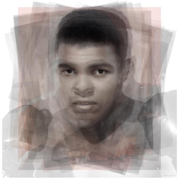 Overlay art – contemporary fine art prints of Muhammad Ali.