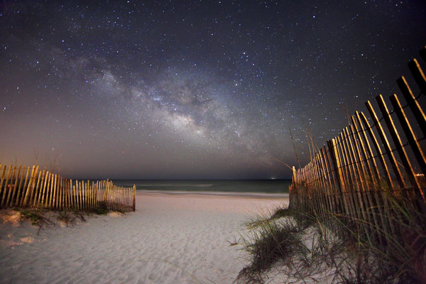 Nighttime and Astrophotography of the Emerald Coast of Florida.