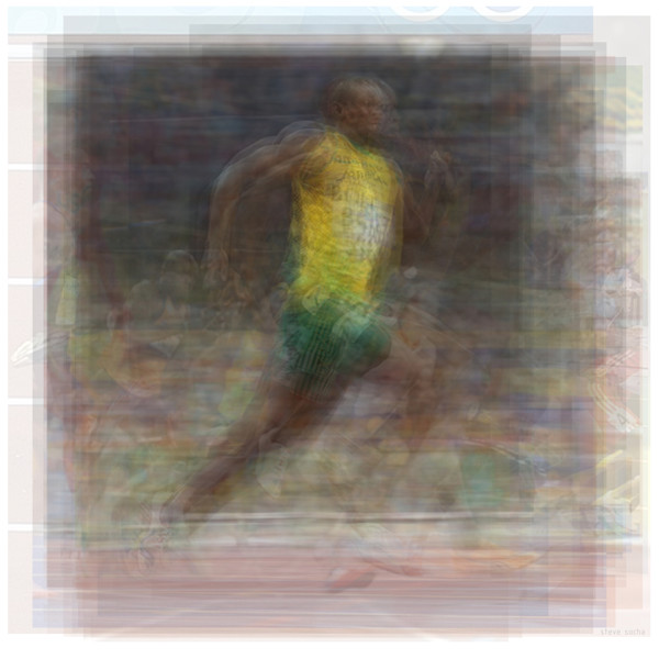 Overlay art - modern art prints of overlays of photographs of Sports stars and athletes for sale.