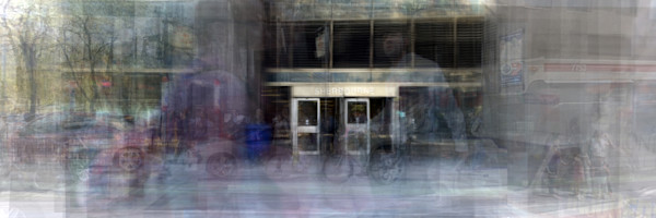 Overlay art – contemporary art prints for sale of Sherbourne Subway Station in Toronto