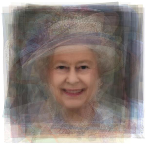 Overlay art – contemporary fine art prints of Queen Elizabeth II
