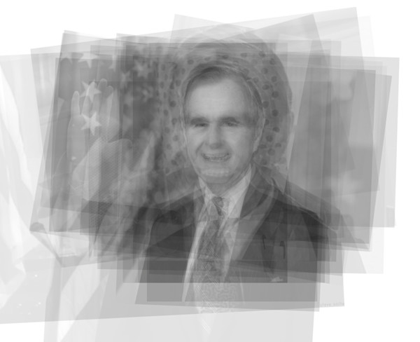 Overlay art – contemporary art prints for sale of George H. W. Bush
