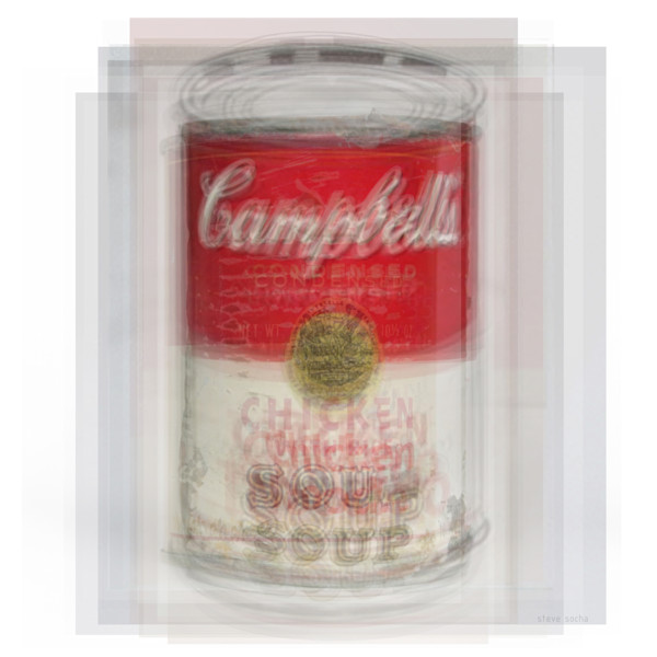 Overlay art – contemporary fine art prints of the Campbell's Soup Can