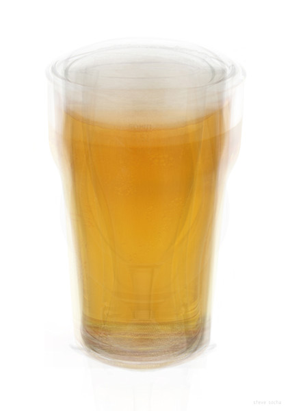 Overlay art – contemporary fine art prints of a Beer Pint Glass